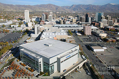 Utah Jazz Photograph - Downtown Salt Lake City by Bill Cobb