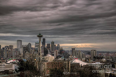 Photograph - Downtown Seattle by Eddie Yerkish