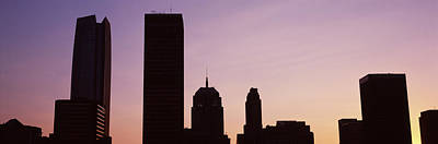 Oklahoma Photograph - Downtown Skyline At Dusk, Oklahoma by Panoramic Images