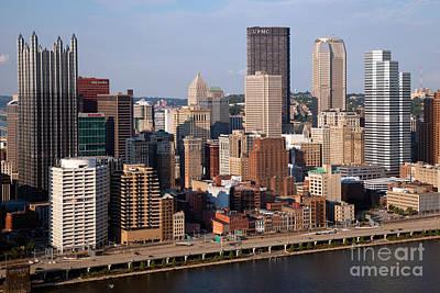 Downtown Skyline Of Pittsburgh Pennsylvania Art Print by Bill Cobb