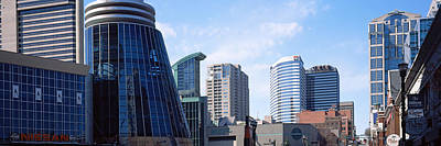 Davidson County Photograph - Downtown Skylines Of Nashville by Panoramic Images