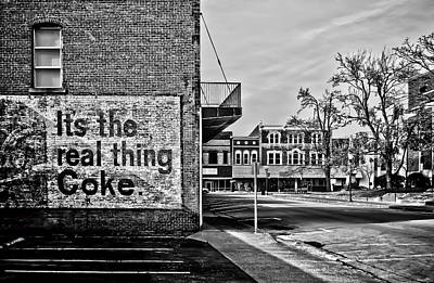Photograph - Downtown Smalltown In Bw by Greg Jackson