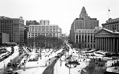Photograph - Downtown Snow 1990s by John Rizzuto