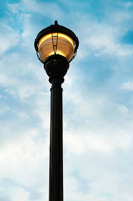 Photograph - Downtown Street Light by Amber Summerow