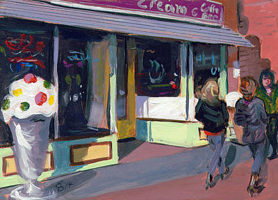Downtown Nashville Painting - Downtown Stroll by Chris Ousley