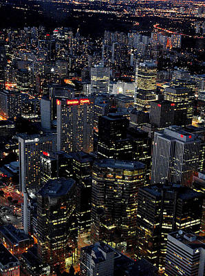 Photograph - Downtown Toronto At Night by Patrick Boening