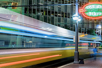 Photograph - Downtown Train by Rospotte Photography