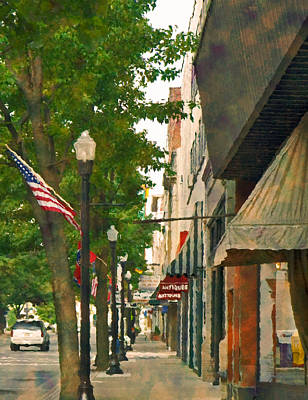 Downtown Usa Art Print by Denise Beverly