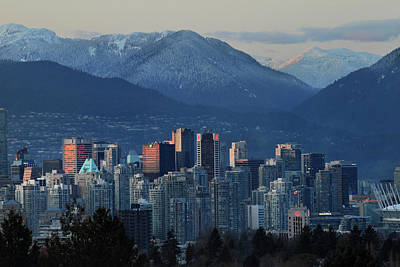 Photograph - Downtown Vancouver At Sunset by Pierre Leclerc Photography