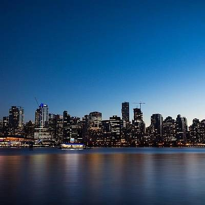 Wallpaper Photograph - Downtown Vancouver Skyline by Andrew Burgos