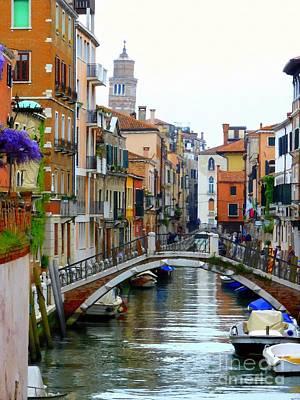 John Tidball Photograph - Downtown Venice by Bishopston Fine Art