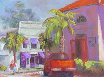 Susan Richardson Painting - Downtown Books Four Pm by Susan Richardson