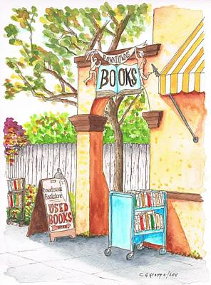 Downtowne Used Books In Riverside, California Original by Carlos G Groppa