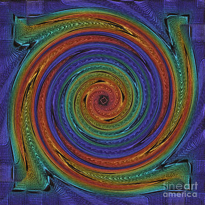 Downward Spiral Multi Art Print