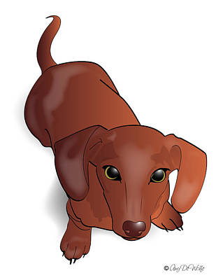 Dachshund Puppy Digital Art - Doxie by Amy De Wolfe