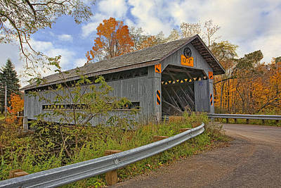 Amish Photograph - Doyle Road Covered Bridge by Marcia Colelli