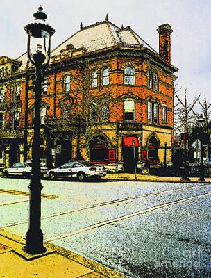Doylestown -cafe Alessio Print by Addie Hocynec