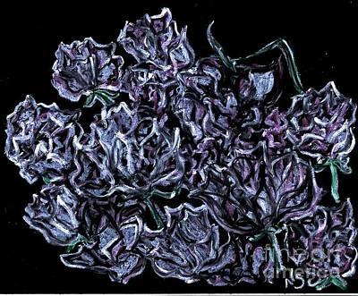 Pastel - Dozen Roses by Neil Stuart Coffey