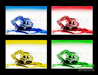Special Occasion Painting - Dozer Mania Iv by Kip DeVore