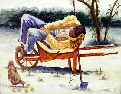 Painting - Dozin' In The Yard by Clifford Etienne