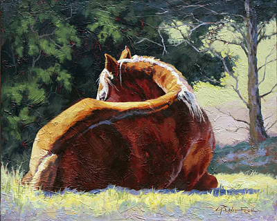 Wall Art - Painting - Dozing by Lanie Frick