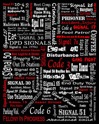 Dpd Signals Art Print by Robert J Sadler