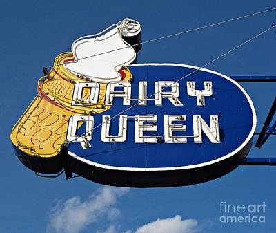 Photograph - Dq Cone Sign by Ethna Gillespie