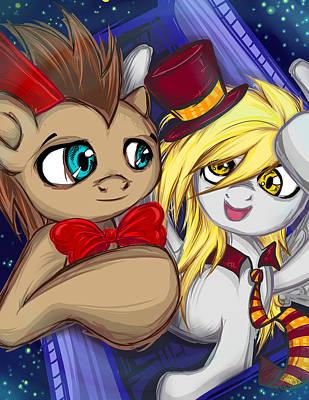 My Little Pony Digital Art - Dr. And Derpy by Sarah Bavar