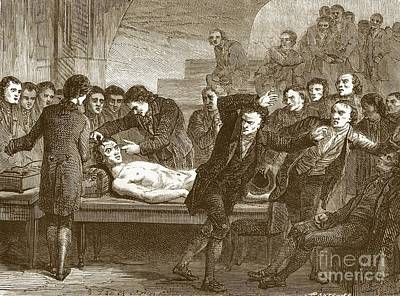 Dr. Andrew Ure 1778-1857 Art Print by Sheila Terry