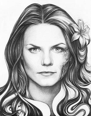 Lilies Drawing - Dr. Cameron - House Md by Olga Shvartsur