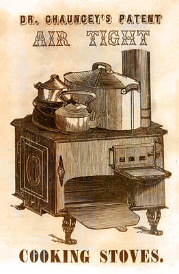 Chauncey Photograph - Dr Chaunceys Patent Air Tight Cooking Stove by Bill Cannon