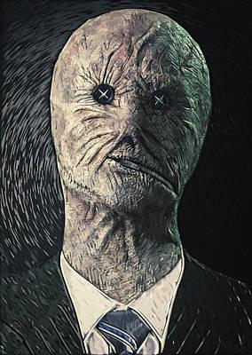 Haunted Digital Art - Dr. Decker by Taylan Apukovska