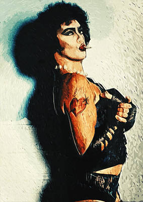 B-movie Digital Art - Dr. Frank N. Furter by Taylan Apukovska