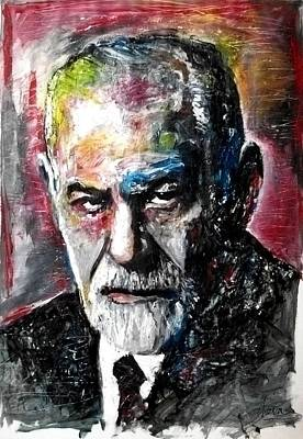Nervous Painting - Dr Sigmund Freud Psychoanalyst by Marcelo Neira