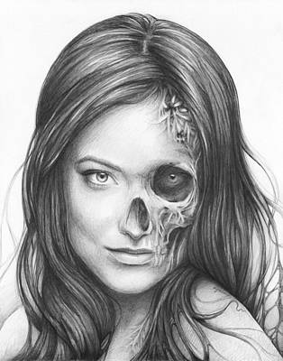 Zombies Drawing - Dr. Hadley Thirteen - House Md by Olga Shvartsur