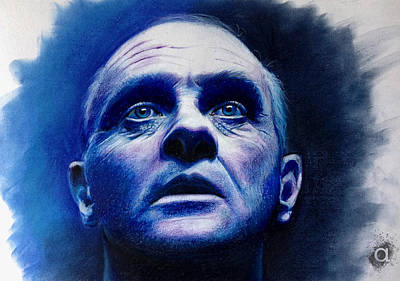 Anthony Hopkins Painting - Dr. Hannibal by Atish Banerjee