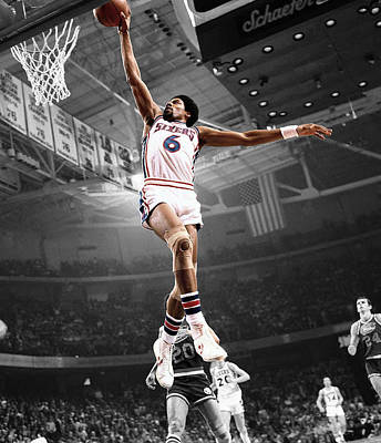 Dr J Art Print by Brian Reaves