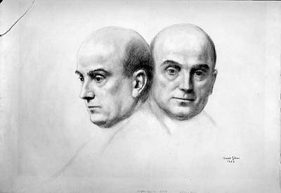 Kahlil Gibran Drawing - Dr. John F. Erdmann by Kahlil Gibran