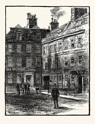 Dr House Drawing - Dr. Johnsons House In Gough Square London by English School