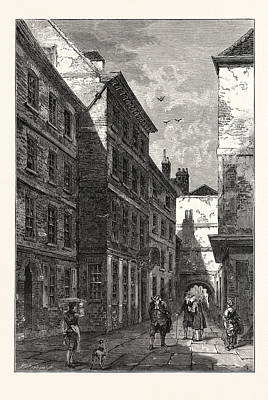 Dr House Drawing - Dr. Johnsons House In The Temple 1780 London by English School