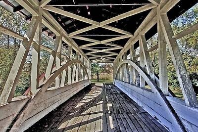 Art Print featuring the photograph Dr. Knisely Covered Bridge by Suzanne Stout
