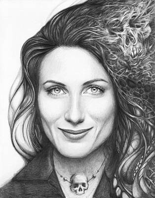 Celebrities Drawing - Dr. Lisa Cuddy - House Md by Olga Shvartsur