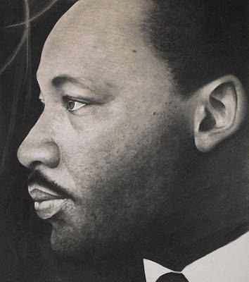 Martin Luther King Drawing - Dr. Martin by Adrian Pickett
