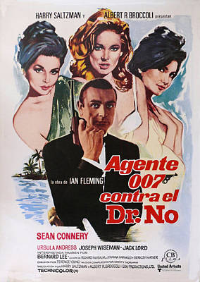 Sean Connery Digital Art - Dr No - Spanish by Georgia Fowler