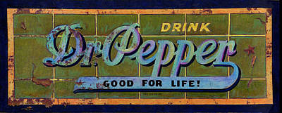 Dr Pepper Art Print by Cindy McIntyre