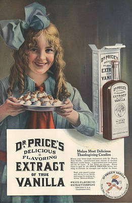 Nineteen-tens Drawing - Dr Price�s Extract Of Vanilla 1914 by The Advertising Archives