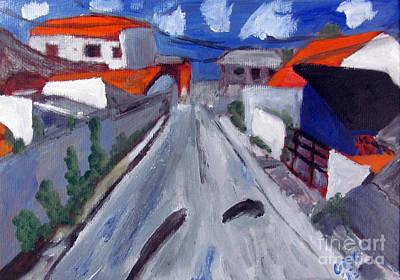 Brasil Painting - Dr Rua Rafael Ribeiro Study 2 by Greg Mason Burns