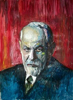 Nervous Painting - Dr Sigmund Freud Psychoanalist by Marcelo Neira