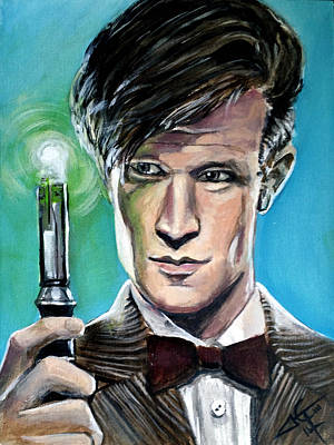 Dr Who Painting - Dr Who #11 - Matt Smith by Tom Carlton