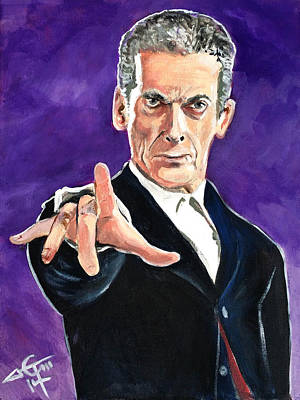 Dr Who Painting - Dr Who #12 - Peter Capaldi by Tom Carlton